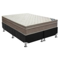 Conjunto Box-ColchãoOrtobom Light+Cama Queen 158