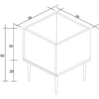 Cachepot Box Estilare Branco 50x35x35cm