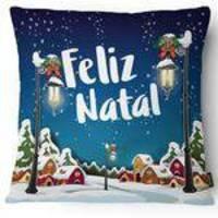 Almofada de Natal Belchior em Tecido Sarja 060 43x43cm - 1 Peça