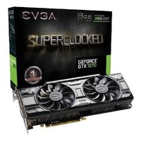 Placa de Vídeo VGA NVIDIA EVGA GEFORCE GTX 1070 SC 8GB DDR5 Black Edition 08G-P4-5173-KR