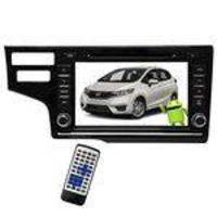 Central Multimídia Para Honda Fit 2017 M1 M8126 LCD Touch Screen - Preto