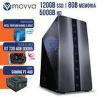 Computador Gamer Mvxp Intel Pentium Dual Core G4560 3.5ghz 7ª Ger Mem 8gb HD 500gb Ssd 120gb Vga Gt7