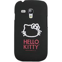 Capa para Celular Galaxy S3 Mini Case Mix Hello Kitty Cristais Policarbonato Preta