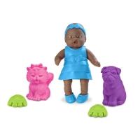 Boneca Bebê Mania Pet Negra 14cm Roma Jensen