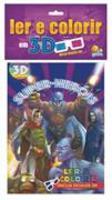 Ler e colorir em 3d - super-herois