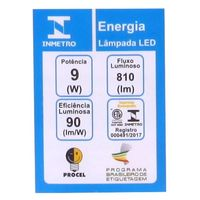 Lâmpada LED Taschibra Luz Fria TKL60 9W 6500K Bivolt