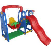 Playground Completo Criança Feliz Barzi Motors Escorregador Balanço e Cesta de Basquete