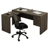 Mesa para Escritório Tecno Mobili ME4106 3 Gavetas Carvalho