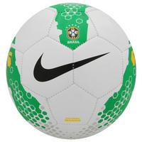 9952f2e849 Bola de Futebol de Futsal Nike 5 Rolinho Menor CBF Branca e Verde ...