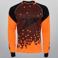 Camisa Poker Sublimax 3 Goleiro nº 1 Masculina Laranja  c9cd7fc4ddebe