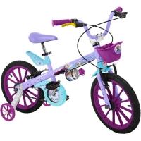 Bicicleta Bandeirante Frozen Disney Aro 16 Lilás