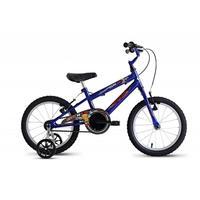 Bicicleta Stone Bike SK-II Mas com Rodinhas Aro 16 Azul