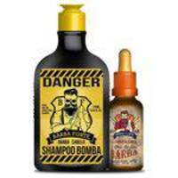 Kit Barba Forte Shampoo Bomba Danger 170ml + Óleo Para Barba Lumberjack 30ml