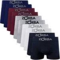 Kit 10 Cuecas Boxer Zorba Seamless com Algodão
