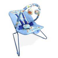 Cadeira Bebê Descanso Vibratória Musical Lite Azul