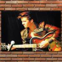Decoração - Quadro Decorativo 42x28cm Sem Moldura Retro Elvis Presley Rock (quartos, Cozinhas, Salas, Bares)