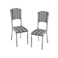 Kit de Cadeiras Design Final Elegance Listrado 2 Peças