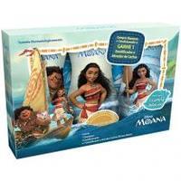 Kit Higiene do Bebê Grandes Marcas Disney Moana - 3 Peças com Adesivos