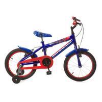 Bicicleta Infantil Rharu Tech Aro 16 Azul e Vermelha