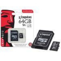 Cartao De Memoria Classe 10 Kingston Sdcit/64gb Micro Sdxc Indus