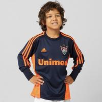 6530a0184dd00 Camisa Adidas Fluminense Goleiro 2012 Sem Número Manga Longa Infantil Azul