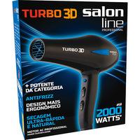 Secador de Cabelo Salon Line Turbo 3D 1900W Preto 110V