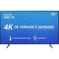 Smart TV LED 50 Samsung UN50RU7100GXZD Ultra HD 4K com Conversor Digital
