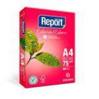 Papel Report A4 Color Rosa 75 Gramas Pacote Com 500 Folhas