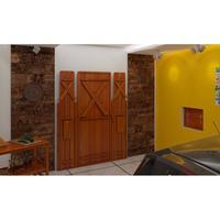 Mesa De Parede Para Churrasco 2m Madeira Maciça Angelim Pedra Amarelo Ouro