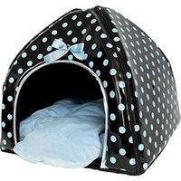 Casinha para Pet Puppy Angel Bolinhas Azuis