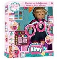 Boneca Interativa Bitsy Baby Brink Ensina Letras e Números