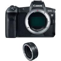 Câmera Digital Canon EOS R Mirrorless Fullframe 30,3 MP Preta Corpo + Adaptador EF-EOS R