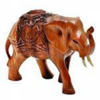 escultura elefante Somalia madeira natural 15cm Ilunato RG0001A