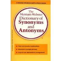 MERRIAM-WEBSTER DICTIONARY OF SYNONYMS & ANTONYMS