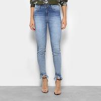 b2ddff1a0 Calça Jeans Skinny Forum Marisa Barra Desfiada Cintura Média Feminina -  Feminino
