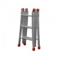 Escada Articulada Botafogo Lar&Lazer 3 x 4 alumínio 12 Degraus