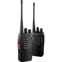 Par de Rádio Comunicador Walkie Talkie Multilaser TV003 8km Preto