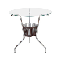 Conjunto De Mesa Para Jardim Área Externa Com 4 Cadeiras Alegro Móveis CJMB40199 Castanho