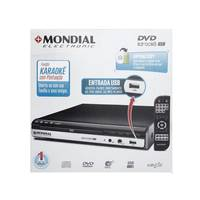 DVD Player Mondial D-15 - USB com Karaokê Ripping