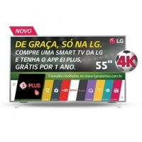 Smart TV LED 55'' 4K LG 55UH6500 com Sistema WebOS