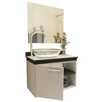 Gabinete para Banheiro VTEC Alkes com Cuba e Espelho 42x55x35cm