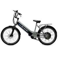 Bicicleta Elétrica Bike Machine Basic 800w 48v Prata e Preto