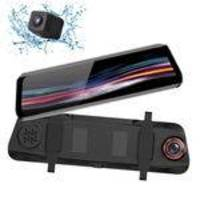T11 + 9.66in 1080p Full Screen + 720p Hd Frontal Retrovisor Camera Recorder Espelho