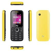 Celular Riu 1 Desbloqueado GSM Preto e Amarelo