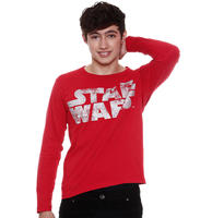 Camiseta Marisa Juvenil Manga Longa Star Wars Masculina Vermelha ... a2c53f6e799bf