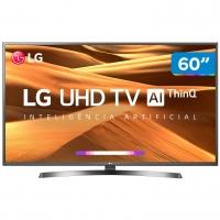 Smart TV 4K LED 60 LG 60UM7270PSA Wi-Fi Inteligência Artificial Preta