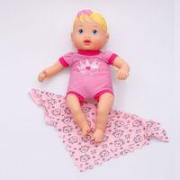 Boneca Nenenzinha Branca com Paninho Divertoys Rosa