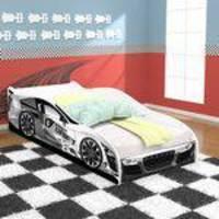 Mini Cama Carros Drift Infantil com Proteção nas Laterais - Branco - RPM Móveis