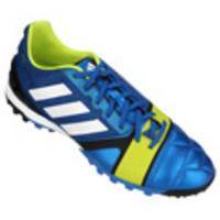 Chuteira Society Adidas Nitrocharge 2.0 TRX TF Masculina Azul Verde e Branco cc2384cb85cb2