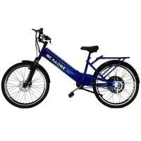 Bicicleta Elétrica Bike Machine Basic 800w 48V Azul e Preto